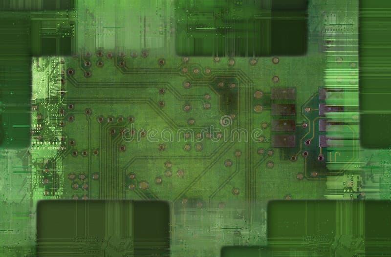 Afgedrukte kring - motherboard royalty-vrije illustratie