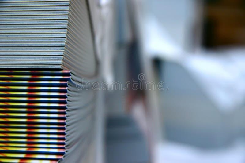 Afgedrukte tijdschriften royalty-vrije stock afbeeldingen