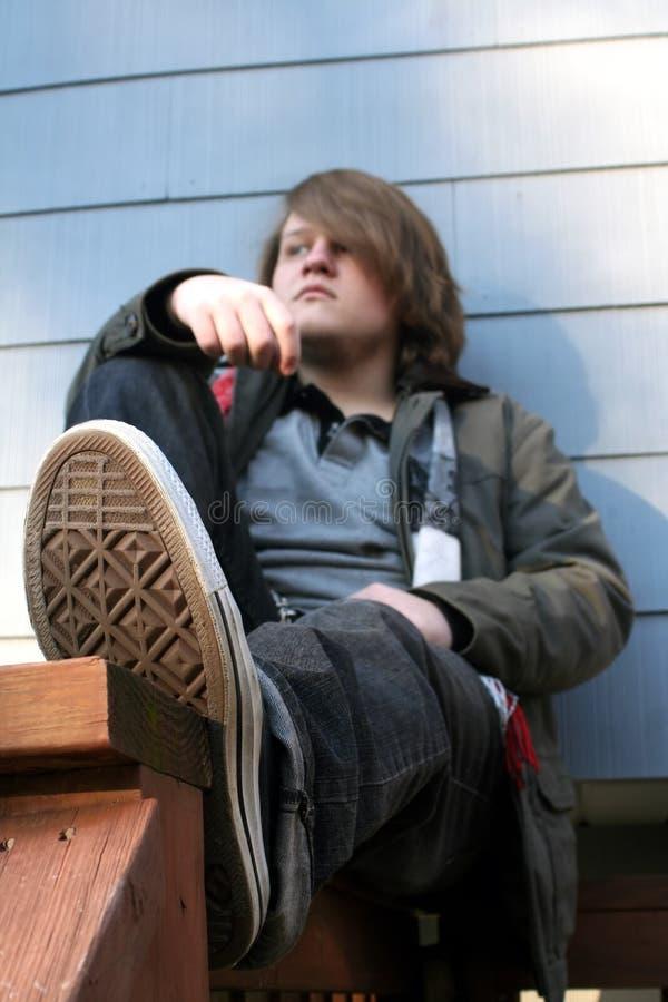 Afgelegen Jonge Mens stock foto's