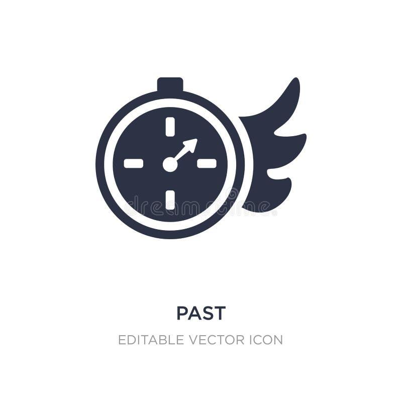 afgelopen pictogram op witte achtergrond Eenvoudige elementenillustratie van UI-concept vector illustratie