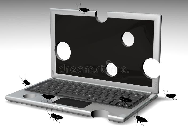 Afgeluisterde Laptops stock illustratie