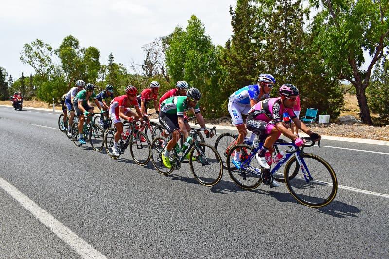 Afgescheiden de Groepsla Vuelta España van het cyclusras royalty-vrije stock afbeelding