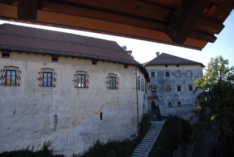 Afgetapt kasteel stock foto