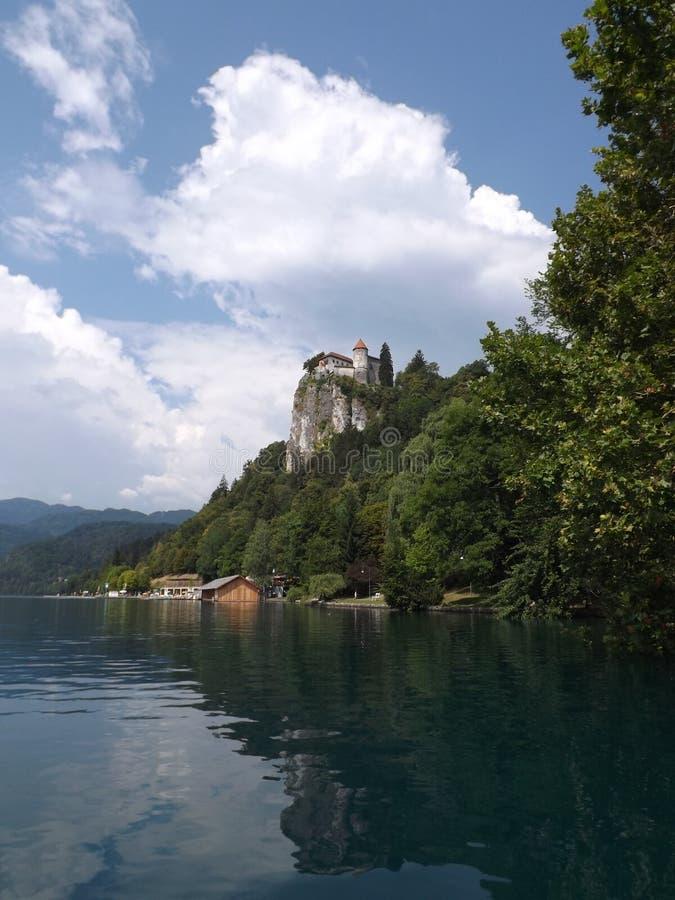 Afgetapt meer (kasteel) royalty-vrije stock afbeeldingen