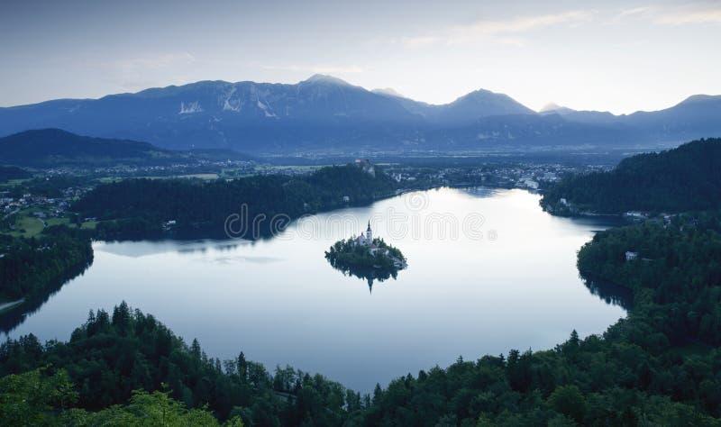 Afgetapt meer in Slovenië royalty-vrije stock fotografie