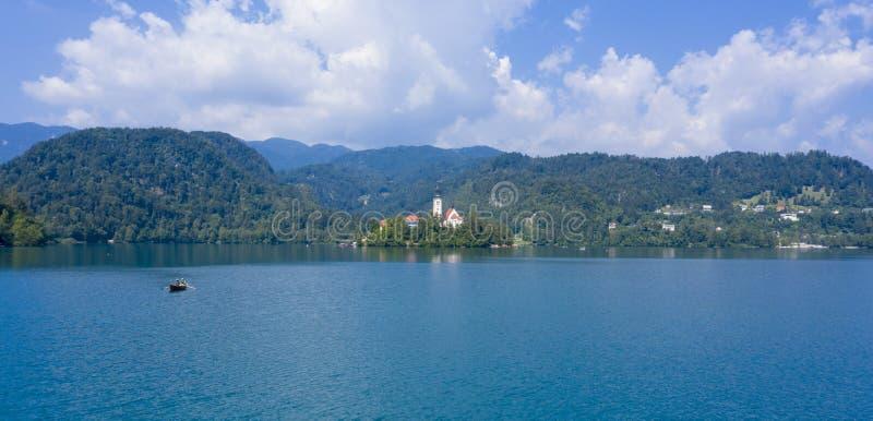 Afgetapt meer in Sloveni? royalty-vrije stock foto's