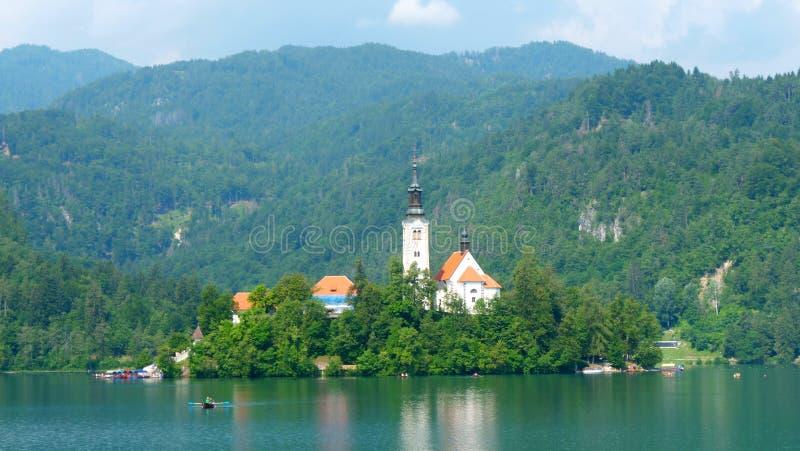 Afgetapt meer in Sloveni? stock fotografie