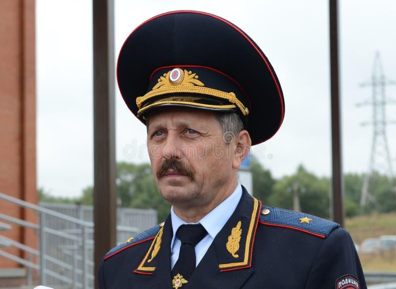 Afgevaardigde Head van het Belangrijkste Ministerie van Verkeersveiligheidsministerie van Interne Zaken van de Russische Federati royalty-vrije stock afbeelding