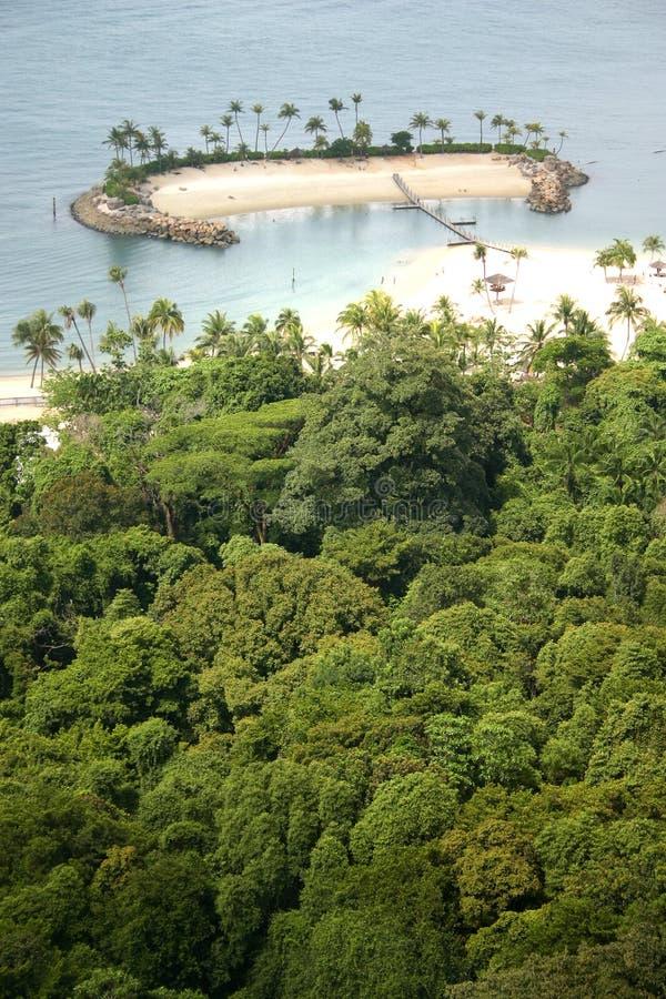 Afgezonderd eiland in de keerkringen stock fotografie