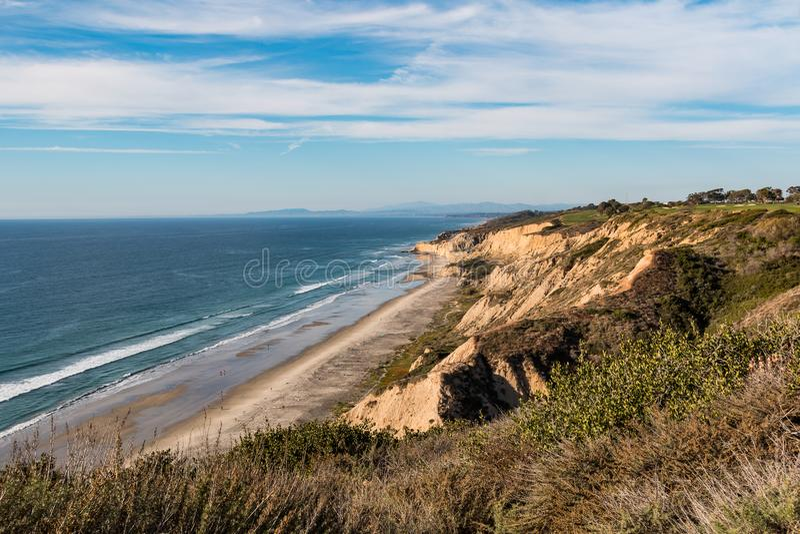 Afgezonderd Kledings Facultatief Zwart ` s Strand in San Diego royalty-vrije stock fotografie