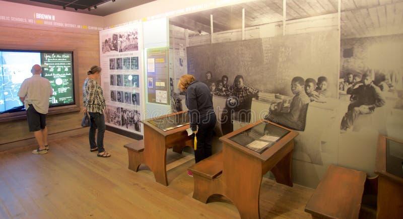 Afgezonderde Schoolzaal binnen het Nationale Burgerrechtenmuseum in Lorraine Motel stock fotografie