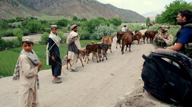 Afghaanse boeren in Afghanistan royalty-vrije stock foto