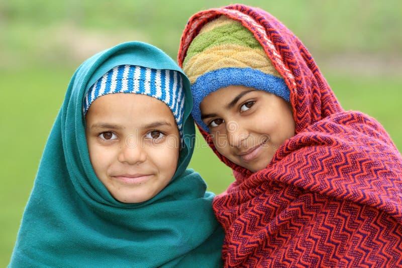 Afghaanse meisjes royalty-vrije stock foto