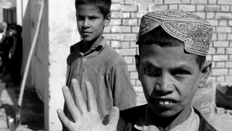 Afghan boy royalty free stock image