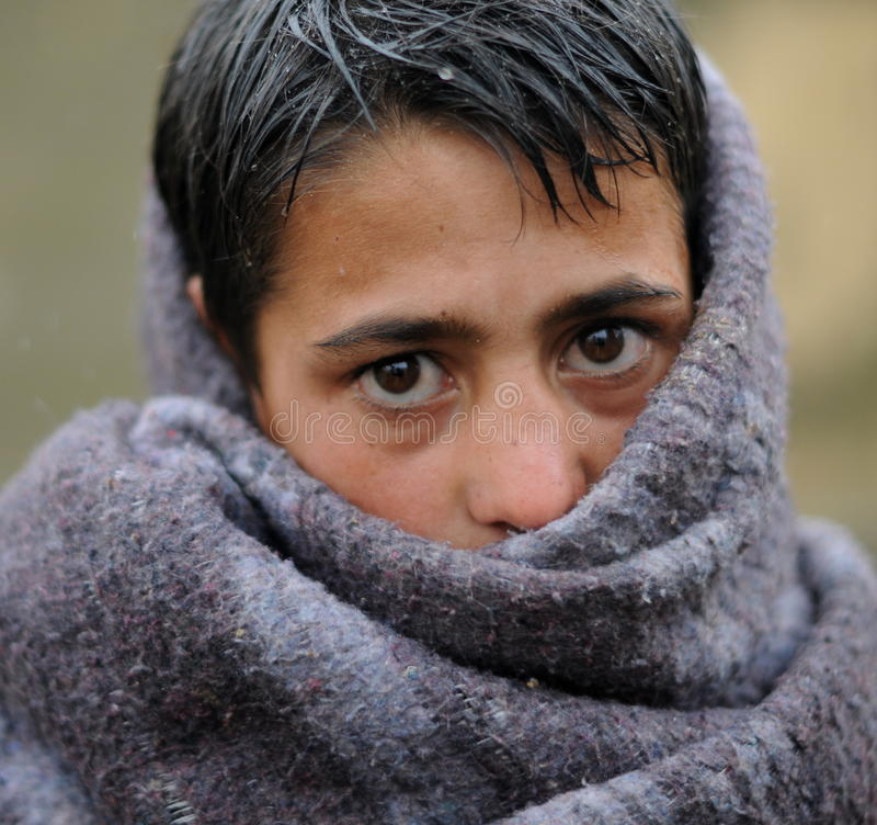 Afghan boy stock image