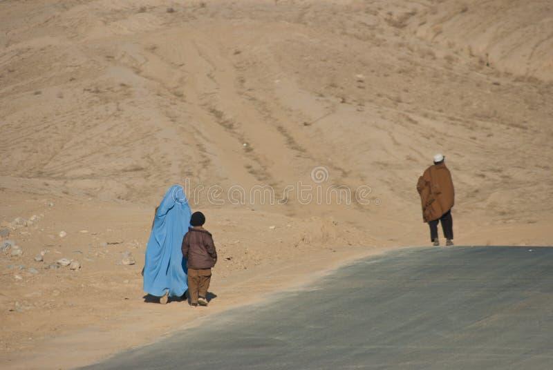 afghan familj arkivfoto
