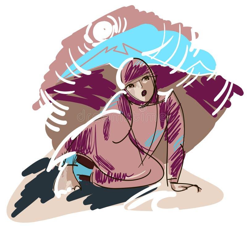 Download Afghan girl stock illustration. Illustration of head - 30424370