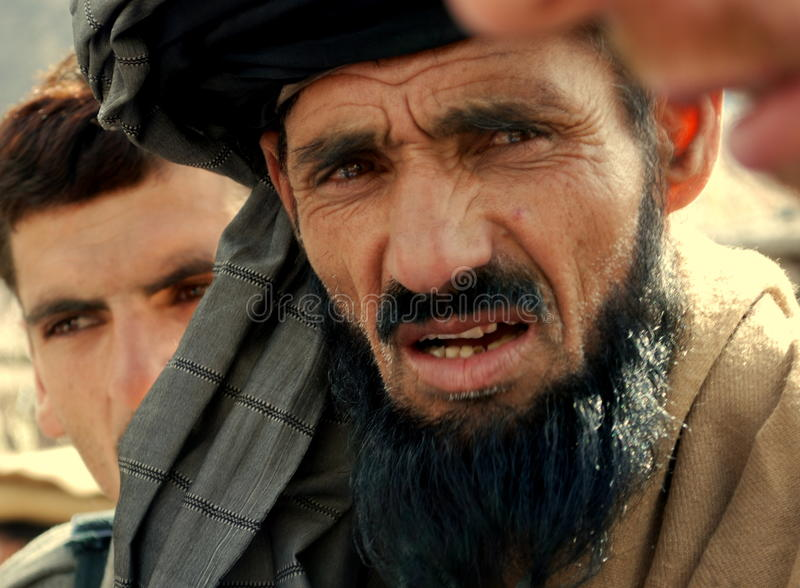 Afghan man stock image