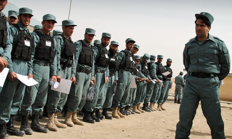 AFGHAN POLICE INAUGURATION - PARADE stock photos