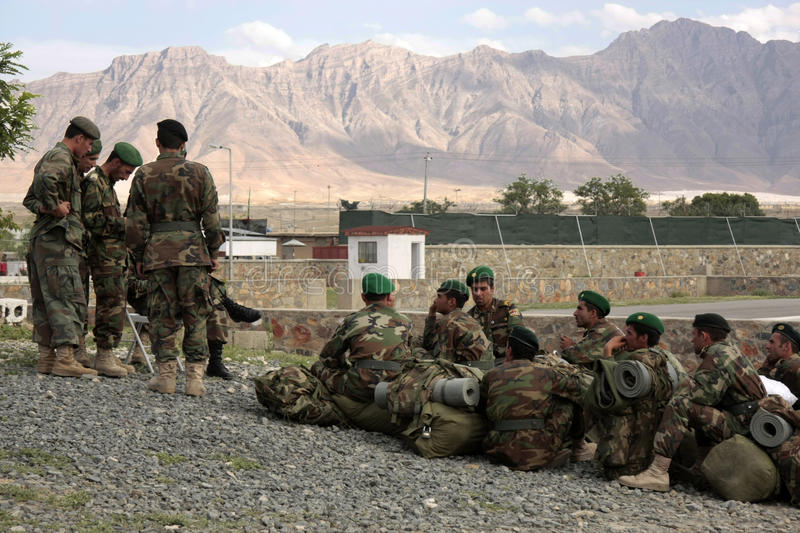 Download Afghan Recruits Wait For Assignment Instructions Editorial Photography - Image: 17684987