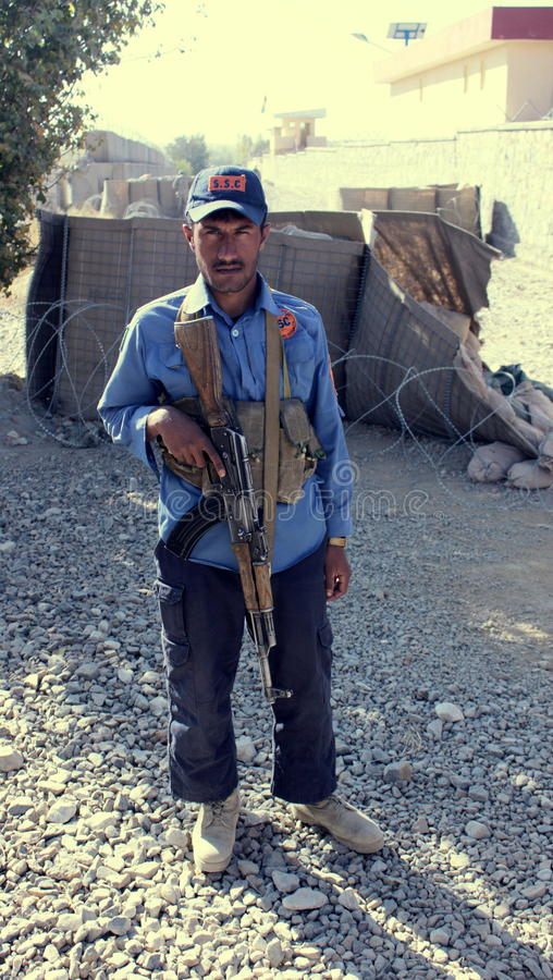Afghan security force stock image