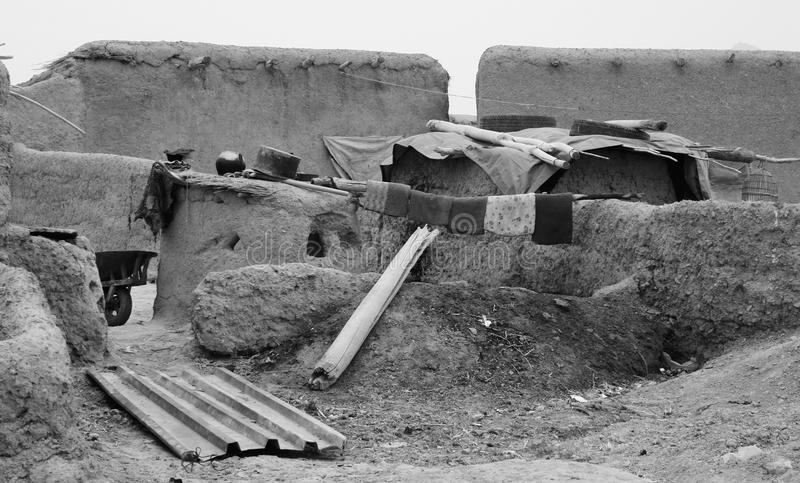 Afghan Village. Small mud hut village in Helmand province Afghanistan royalty free stock photography