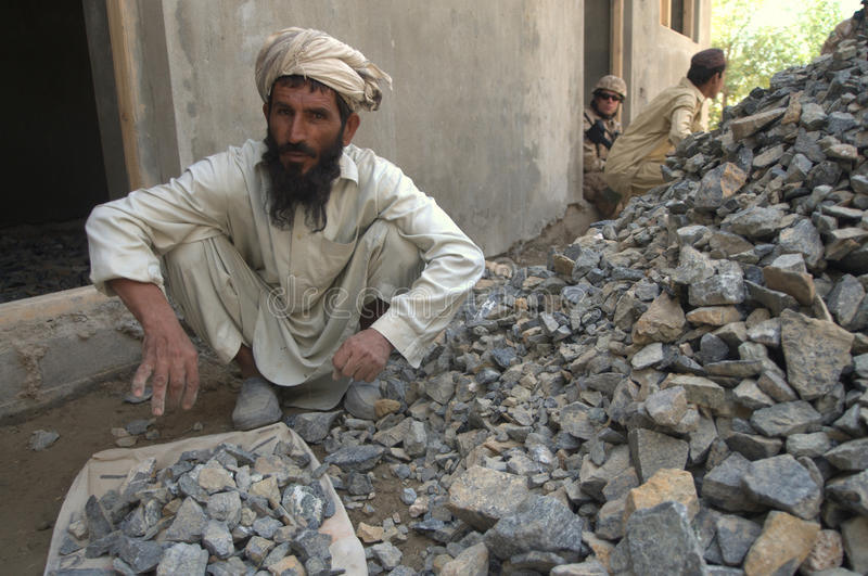 Afghan worker royalty free stock photos