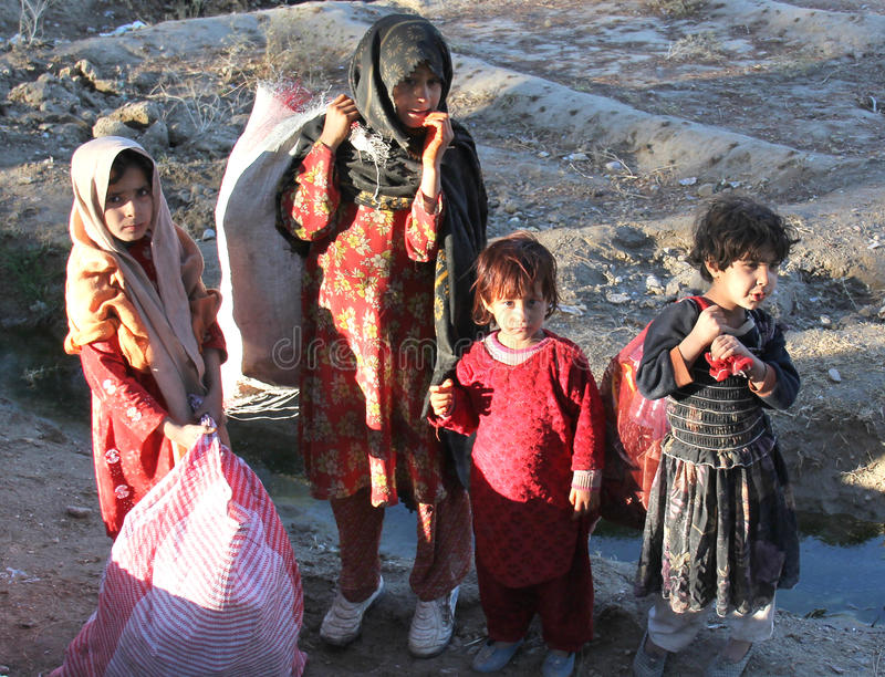 Afghanische Kinder stockfotos