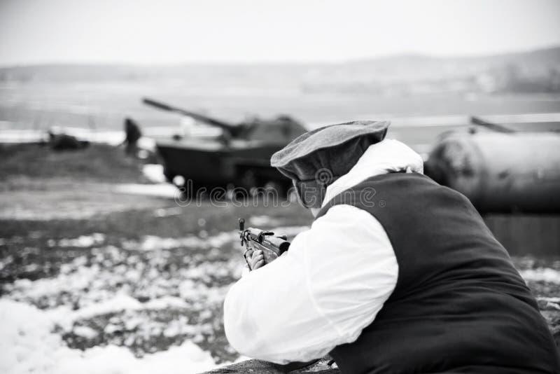 Afghanischer Soldat stockfotos