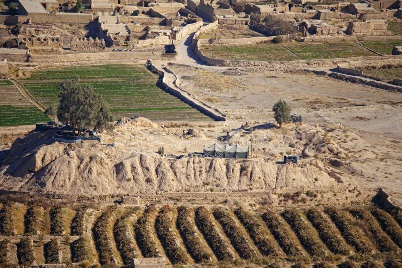 Afghanisches Polizeirevier stockfotos