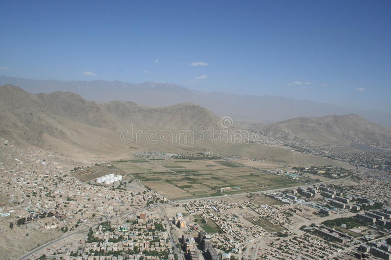 Afghanistan by air stock photo