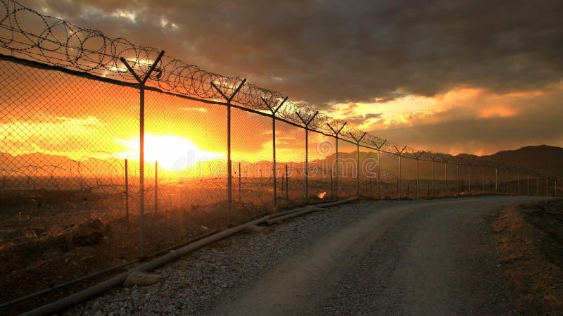 afghanistan base militär arkivbild