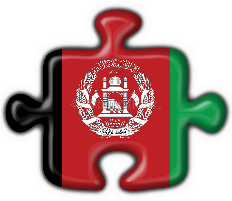 Download Afghanistan Button Flag Puzzle Shape Stock Illustration - Image: 3767891
