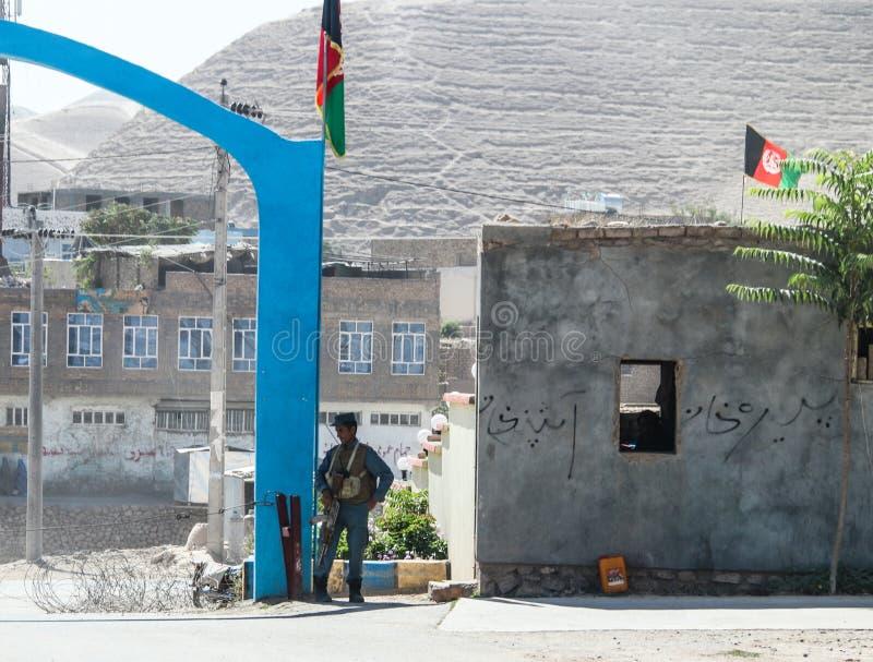 Afghanistan byliv och bilder i det nordvästligt i mitt av stridighetsäsongen arkivbild