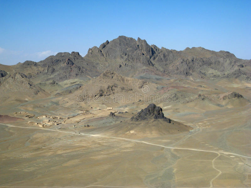 afghanistan ensam sydlig by royaltyfria foton