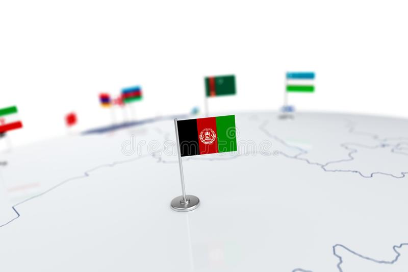 Afghanistan flag vector illustration