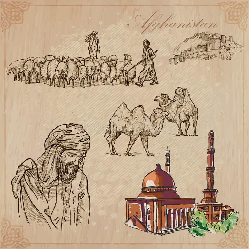 afghanistan Hand getrokken vectorpak nr 3 vector illustratie