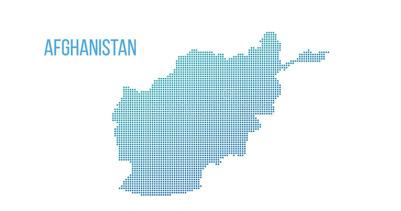 Afghanistan map. Vector halftone composition. Vector illustration isolated on white background. Afghanistan map. Vector halftone composition. Vector illustration royalty free stock photo