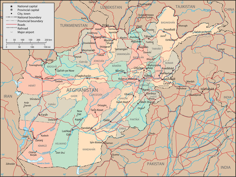 afghanistan mapa ilustracji