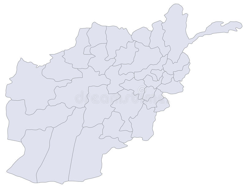 afghanistan mapa royalty ilustracja