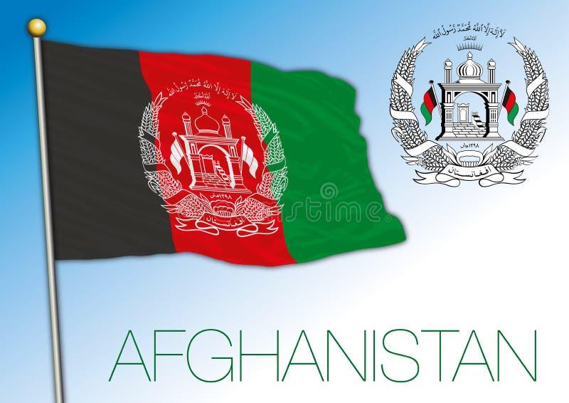 Afghanistan national flag, vector illustration stock illustration