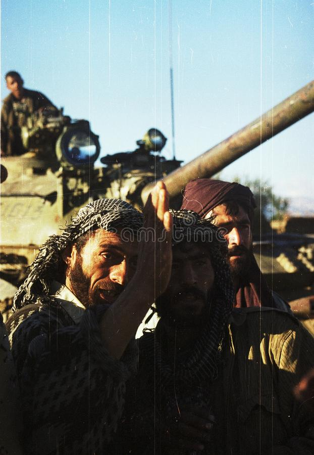 AFGHANISTAN. Northfoto Alliance fighters prepare for battle with Taliban forces north of Kabul, Afghanistan on Monday, October 21, 1996 Photographer: Mark royalty free stock photos