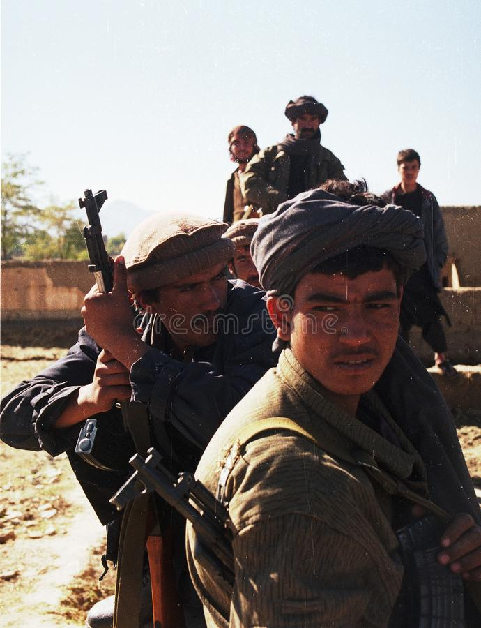 AFGHANISTAN. Northfoto Alliance fighters prepare for battle with Taliban forces north of Kabul, Afghanistan on Monday, October 21, 1996 Photographer: Mark stock image