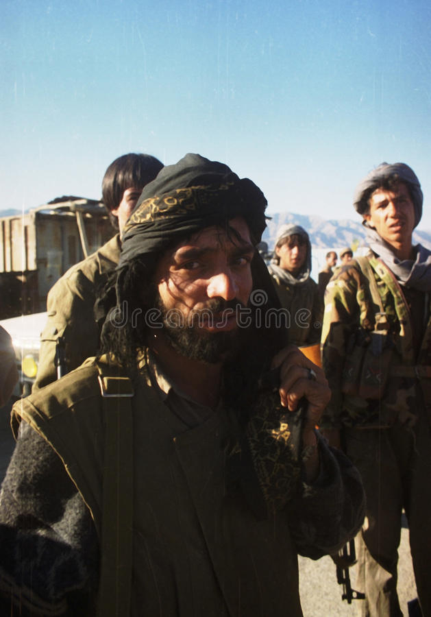 AFGHANISTAN. Northfoto Alliance fighters prepare for battle with Taliban forces north of Kabul, Afghanistan on Monday, October 21, 1996 Photographer: Mark stock images