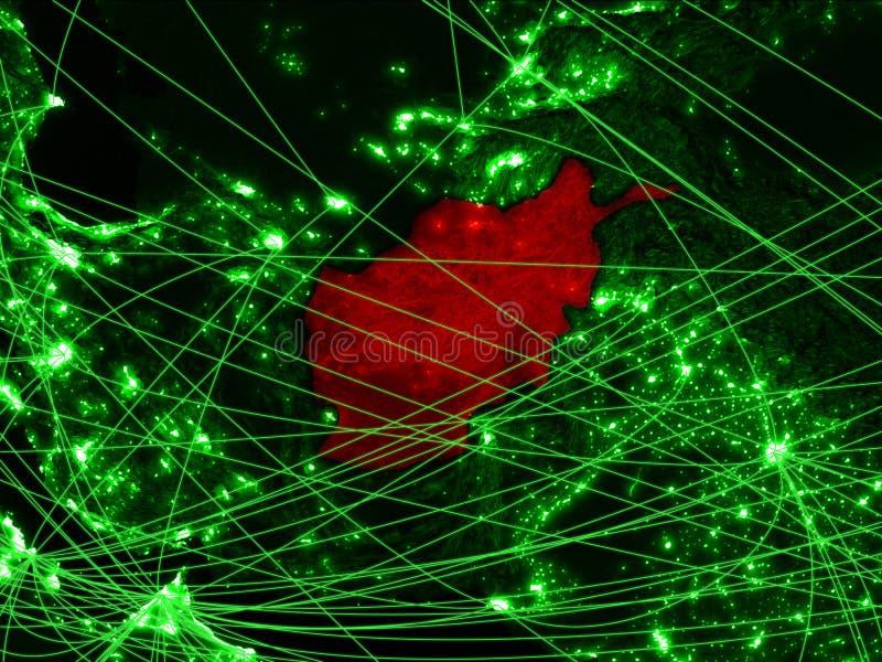 Afghanistan op groene kaart stock foto