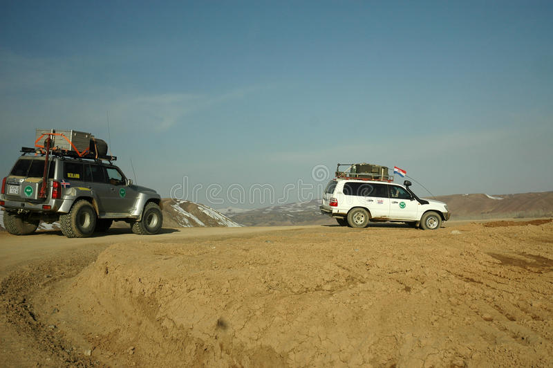 afghanistan patrol obrazy stock