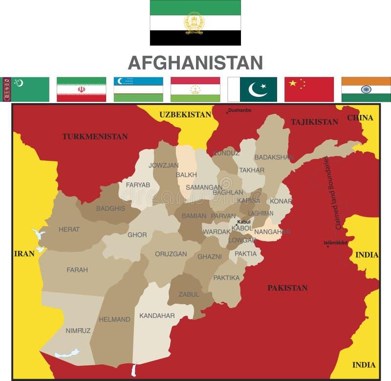 afghanistan prowincje royalty ilustracja