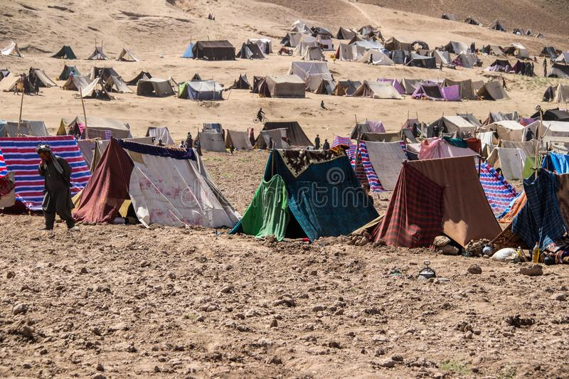 Afghanistan refugee camp and images in the North West in the middle of fighting season. Afghanistan refugee camp and images in the North West of the country in stock photography