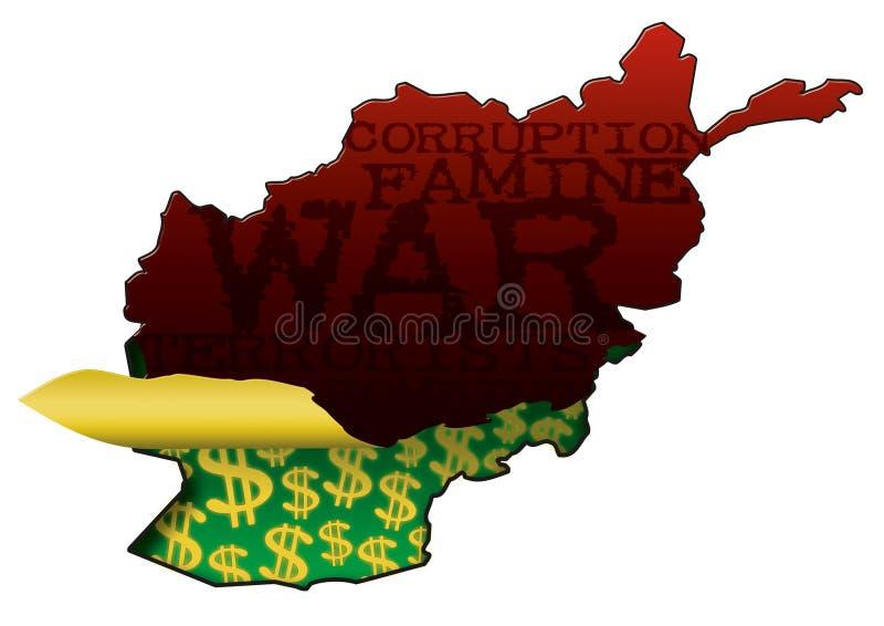 Afghanistan Verborgen Rijkdom vector illustratie