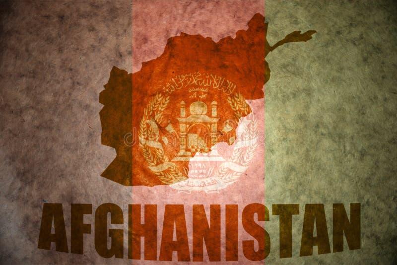 Afghanistan-Weinlesekarte stockfoto